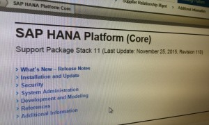 SAP HANA SPS 11 – SAP HANA XS Advanced